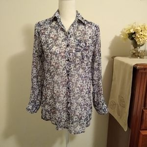 Size 14/L Abercrombie & Fitch floral long sleeve